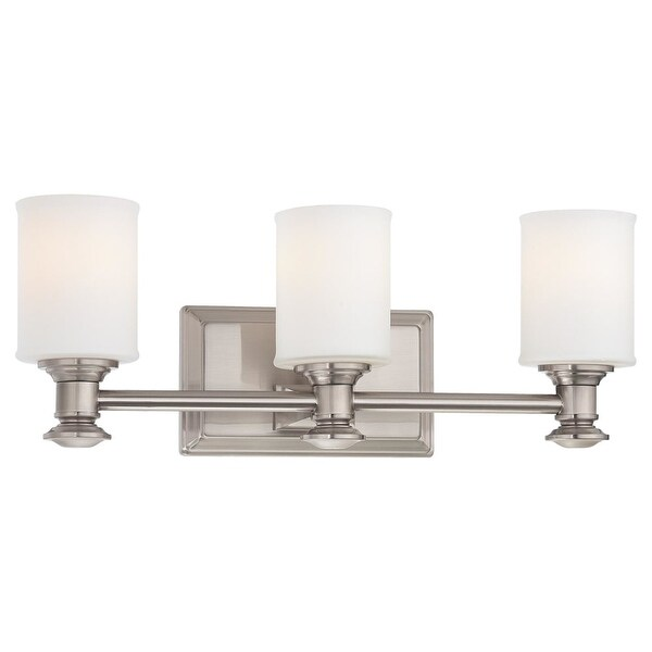 Minka Lavery ML 5173 3 Light Bathroom Vanity Light from the Harbour Point Collection - Brushed nickel