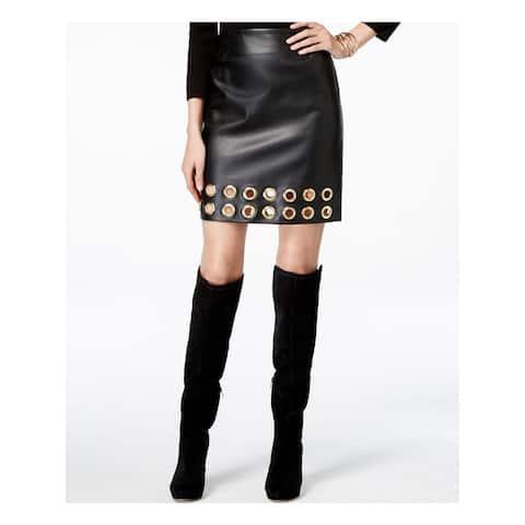 INC Womens Black Knee Length Shift Skirt Size 6