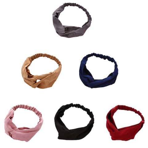 Fashion Knotted Suede Hairband Elastic Women Head Wrap Hair Styling Accessories