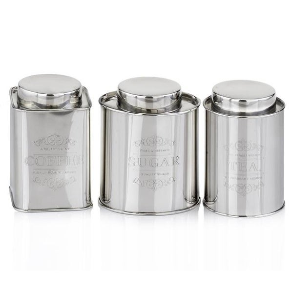 Modern Day Accent 5191 Coffee Tea Sugar Canisters