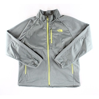 The North Face NEW Gray Yellow Mens Size XL Full-Zip Fleece Jacket