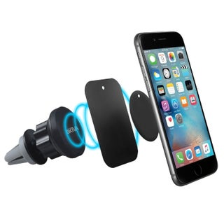 Skiva Magnetic Car Mount Air Vent Portable Cradle Holder for iPhone X 8 8+ 7 6 6s Plus SE, Samsung Galaxy S7 S6 Edge Note5 Note4