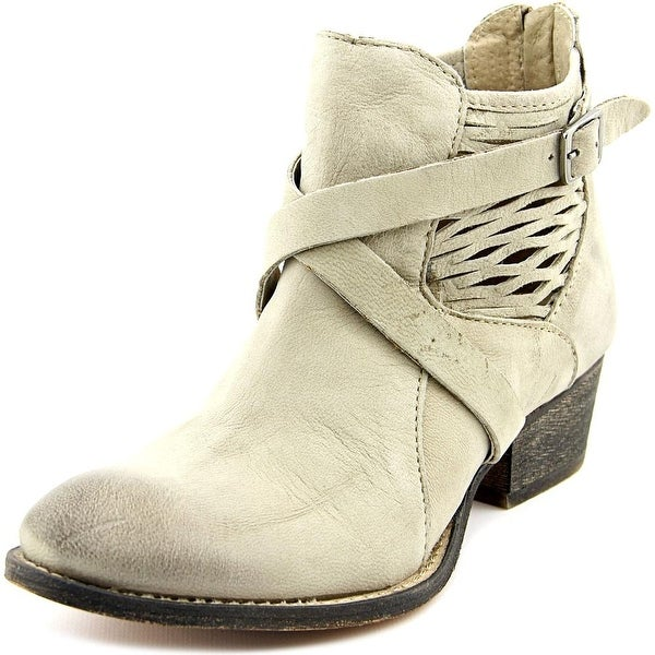 Charles By Charles David York Women Round Toe Leather Gray Bootie