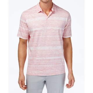 Tommy Bahama Pink Men's Size Large L Polo Rugby Striped Shirt