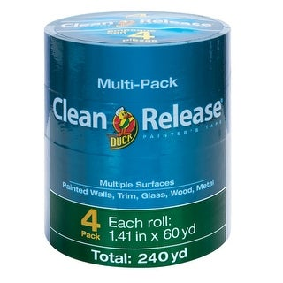 """Duck 240460 Clean Release Multiple Surfaces Painter's Tape, 1.41"""" x 60 yd"""