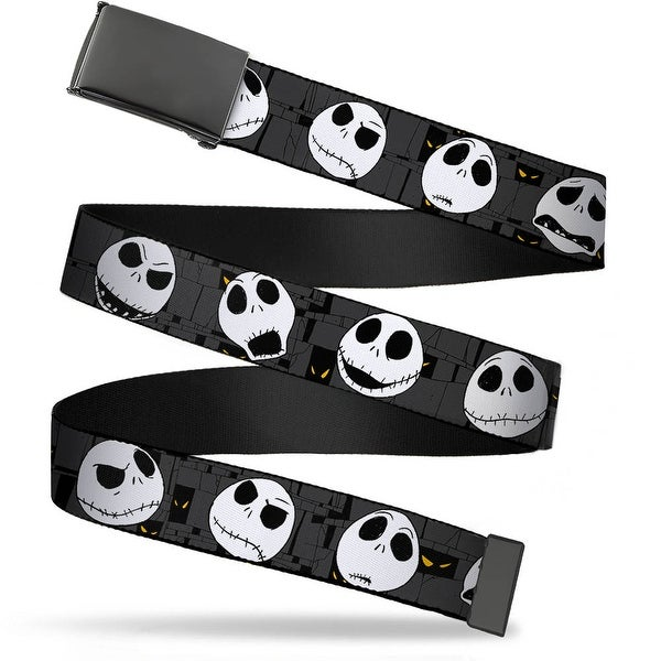 Blank Black Bo Buckle Nightmare Before Christmas Jack Expressions Gray Web Belt