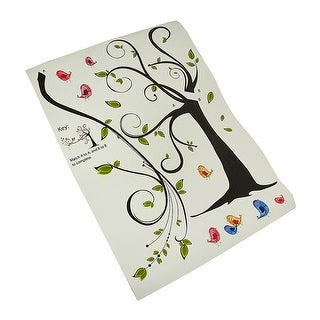 Colorful Birds in a Tree Die Cut Peel & Stick Vinyl Wall Decals