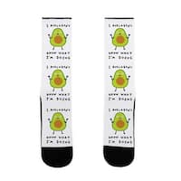 LookHUMAN I Avocadon't Know What I'm Doing US Size 7-13 Socks