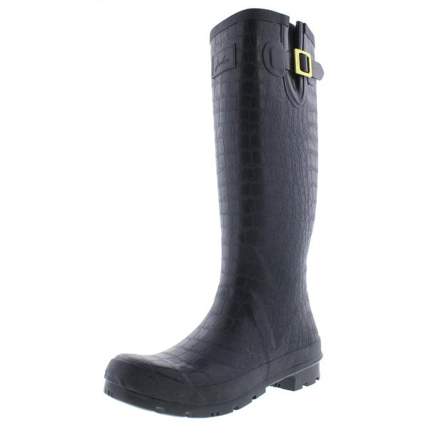 Joules Womens Crockington Rain Boots Rubber Knee-High