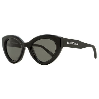 Link to Balenciaga BB0073S 001 Womens Black/Gold 51 mm Sunglasses Similar Items in Women's Sunglasses