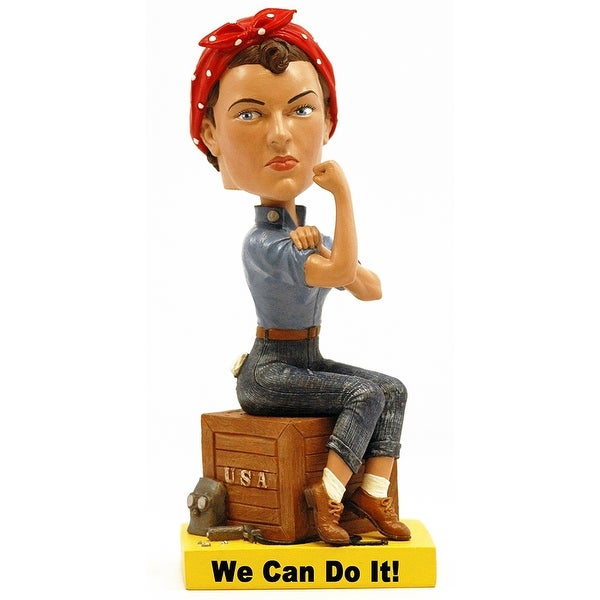 "Rosie the Riveter 8"" Polyresin Bobblehead - multi"