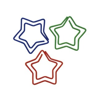 Baumgartens Fun Shapes Star Shaped Paper Clip, Pack of 20