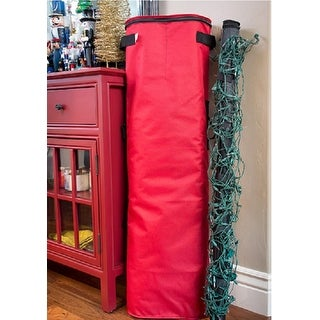 3-Piece Red and Black Christmas Net Light Storage Set for 4' x 6' Lights