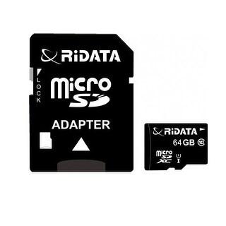 Ridata 64Gb Microsdcx Class 10 Card 66X High Speed Lossless Recording