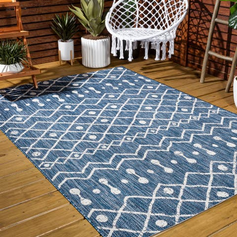 JONATHAN Y Nokat Tribal Bohemian Indoor/Outdoor Area Rug