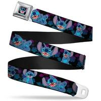 Stitch Smiling Close Up Full Color Black Stitch 2 Expressions 2 Poses Seatbelt Belt