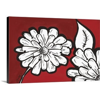 """Flowers in Unity - Red"" Canvas Wall Art"
