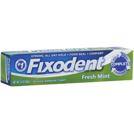 Fixodent Denture Adhesive Cream, Fresh Mint 2.40 oz