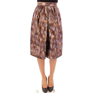 Dolce & Gabbana Dolce & Gabbana Brown Floral Silk Straight Full Skirt
