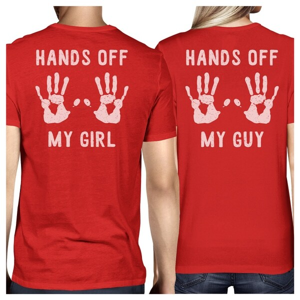 dbb6e415 Shop Hands Off My Girl And My Guy Red Cute Matching Couples Tee Shirts - On  Sale - Free Shipping On Orders Over $45 - Overstock - 23001127