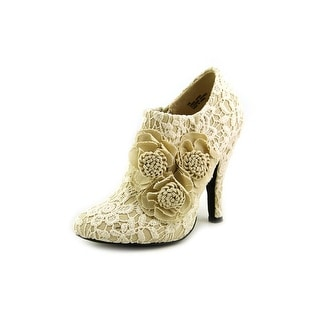 Dolce by Mojo Moxy Flora Round Toe Canvas Bootie