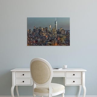 Easy Art Prints Richard Silver's 'Downtown Skyline 12' Premium Canvas Art
