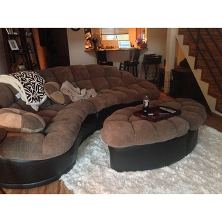 Papasan two piece sectional sofa overstockcom shopping for Papasan two piece sectional sofa