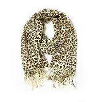 Animal Print Fringed Shoulder Pashmina Wrap Scarf
