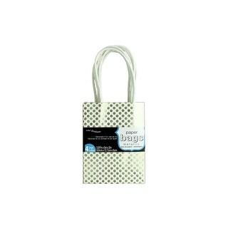 Coredinations Paper Bags 3.87x5x2 Metallic Wht 4pc