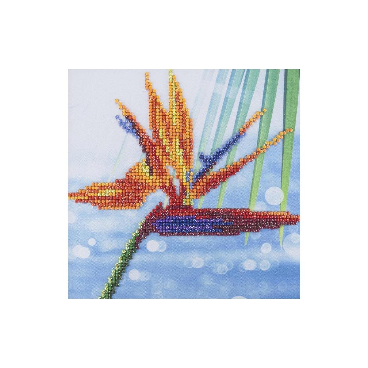 "Leisure Arts Diamond Art Beginner Kit 8/""X8/""-Tribe"