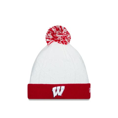 Wisconsin Badgers Snow Crown White Knit Hat