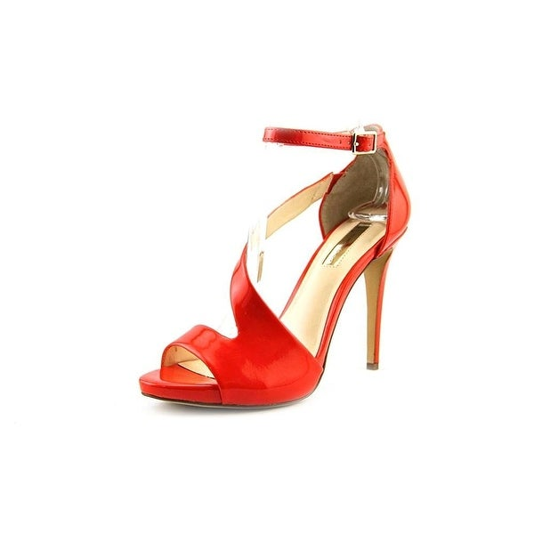 INC International Concepts Womens Suzi Leather Open Toe Formal Ankle Strap Sa...