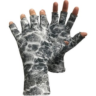Link to Glacier Glove Abaco Bay Fingerless Sun Gloves - Gray Water Camo Similar Items in Gloves
