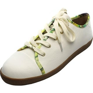 Delman Magie Women Leather White Fashion Sneakers