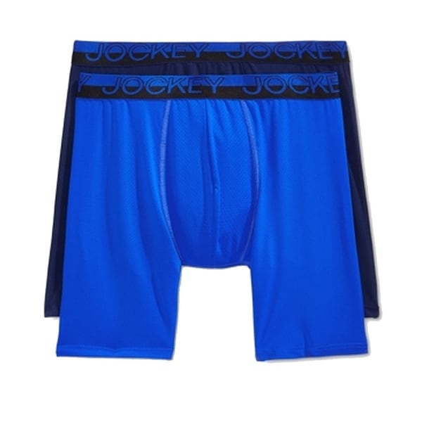 535346fe250a Shop Jockey Blue Mens Medium M Micro Mesh Performance Midway Boxer Brief  Set - Free Shipping On Orders Over $45 - Overstock - 22473374