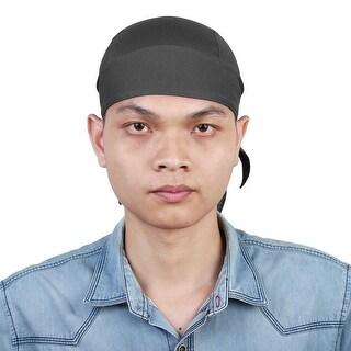 Sports Breathable Headband Cycling Head Scraf Headwrap Sweat Cap Hat Gray