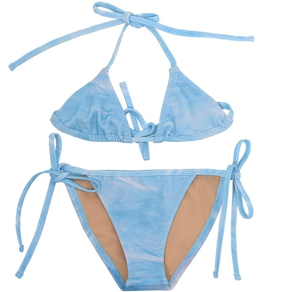 Popup Shop Baby Girls Blue Dolphin Print UV Safe 2 Piece Bikini Swimsuit 1-2