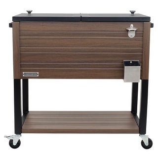 Link to Permasteel 80 Qt. Rustic Furniture Style Patio Cooler Similar Items in Grills & Outdoor Cooking