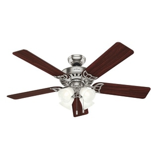 Link to Hunter Fan Studio Series - 52 Brushed Nickel Ceiling Fan w/ Light - Brushed Nickel Similar Items in Ceiling Fans