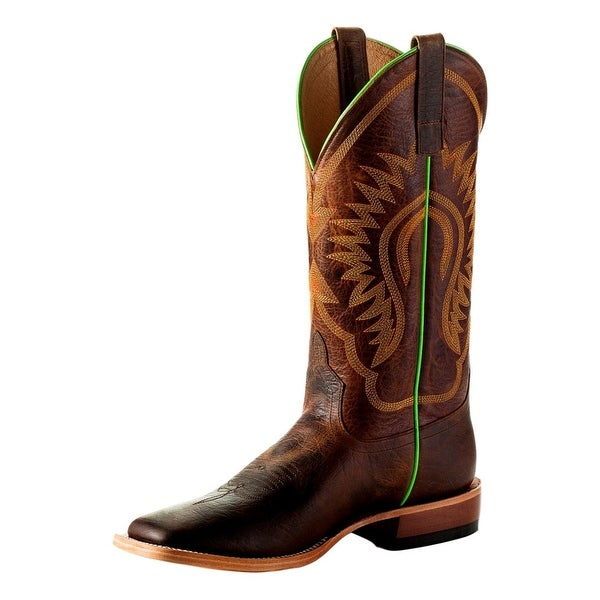 Horse Power Western Boots Mens Square Roper Square Toast Bison