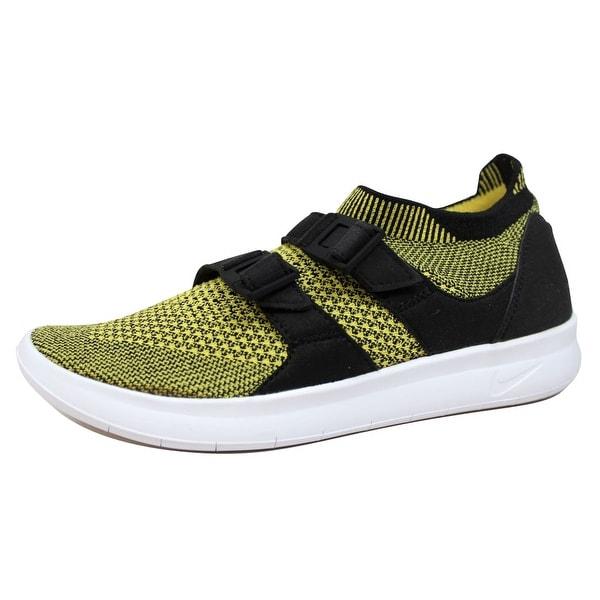 Nike Women's Air Sockracer Flyknit Black/White-Yellow Strike 896447-003