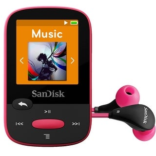 SanDisk SDMX24-008G-A46P Clip Sport 8GB MP3 Player - Pink