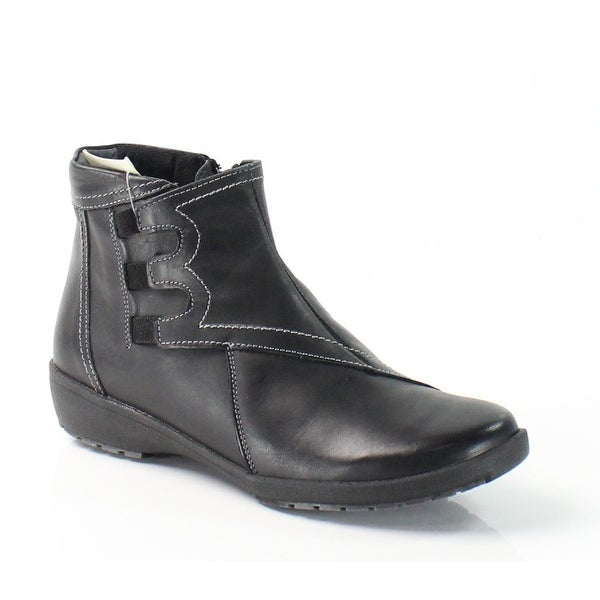Spring Step NEW Black Shoes Size 6M Zip Ankle Leather Boots