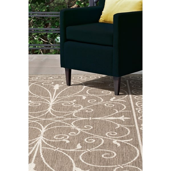 Charles Abstract Indoor Outdoor Black Brown Pattern Floor Mats Rugs LARGE SIZE!!