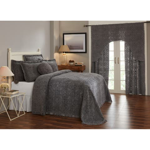 Better Trends Wedding Ring Loop Design Bedspread 100% Cotton Tufted Machine Washable Tumble Dry