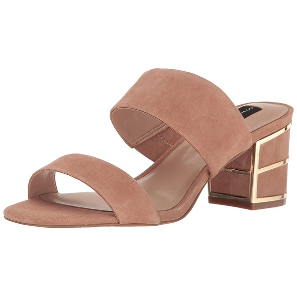 STEVEN by Steve Madden Womens siggy Suede Open Toe Casual, Pink Suede, Size 9.5