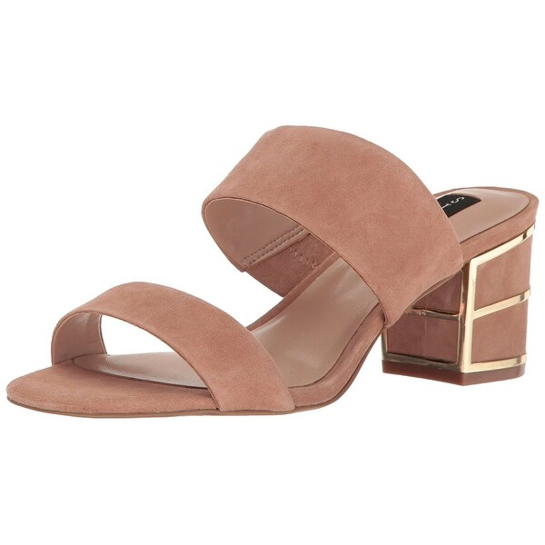 STEVEN by Steve Madden Womens siggy Suede Open Toe Casual, Sand Suede, Size 8.0