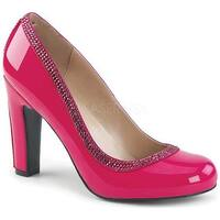 Pleaser Pink Label Women's Queen 04 Pump Hot Pink Patent