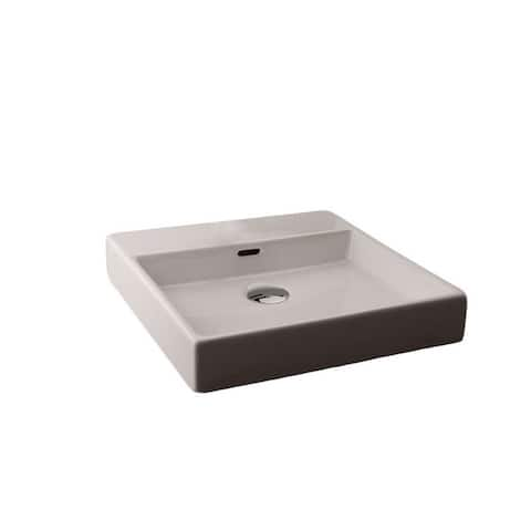"WS Bath Collections Plain 45W 18"" Ceramic Wall Mounted Bathroom Sink"
