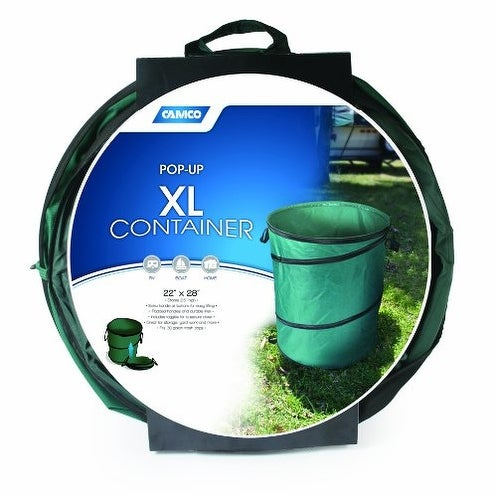 "Camco 42895 XL Collapsible Container (22"" x 28"") - Black"